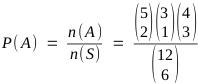 P(A) = n(A) / n(S)