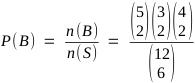 P(B) = n(B) / n(S)