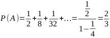 P(A) = 2 / 3